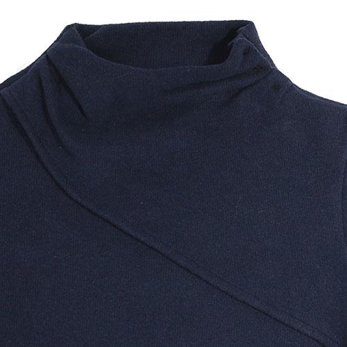 i leoncini Classic Sweater with Small Rollneck Blue (Trui)-3