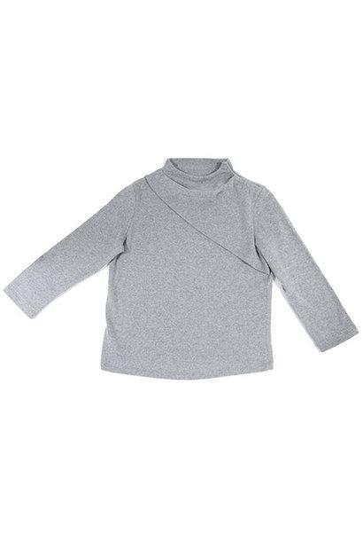 i leoncini Classic Sweater with Small Rollneck Grey (Trui)