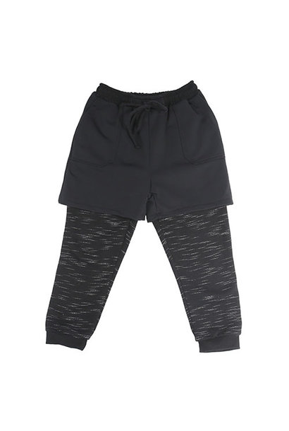 i leoncini Freestyle Pants with Short Black (Broek)