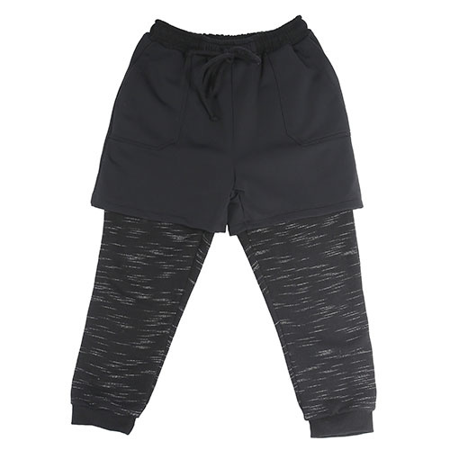i leoncini Freestyle Pants with Short Black (Broek)-1