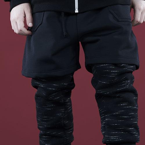 i leoncini Freestyle Pants with Short Black (Broek)-4