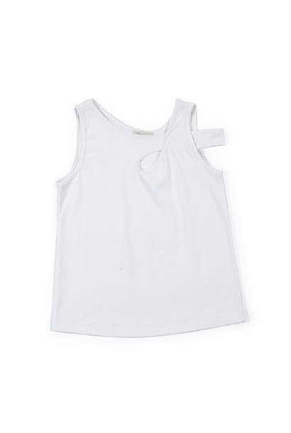 i leoncini Top with Crossed Shoulder Strap white (Shirt)