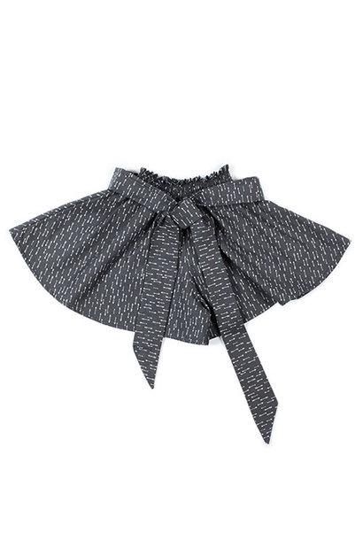 i leoncini Culottes with Micro fantasy graphite (Broekrok)