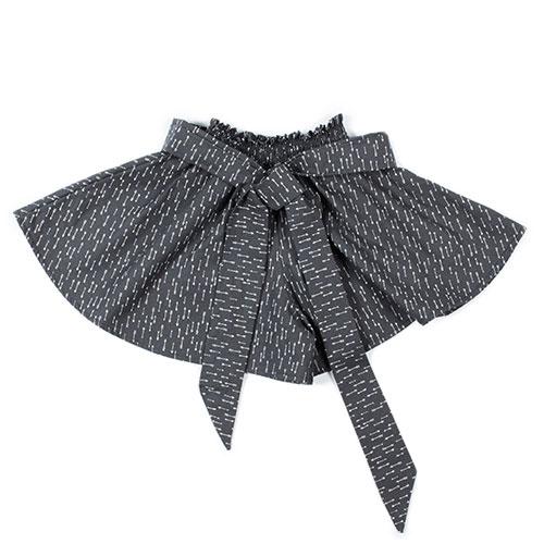 i leoncini Culottes with Micro fantasy graphite (Broekrok)-1