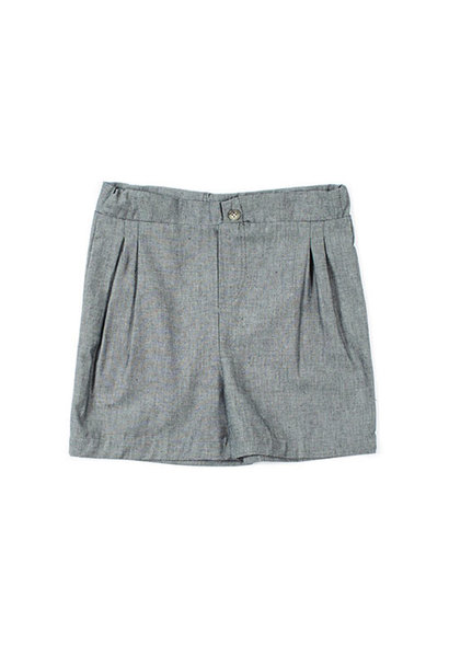 i leoncini Shorts Organic Cotton Chambray grey (Korte broek)