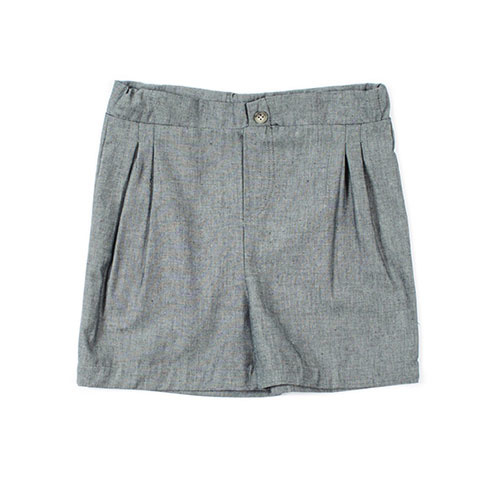 i leoncini Shorts Organic Cotton Chambray grey (Korte broek)-1