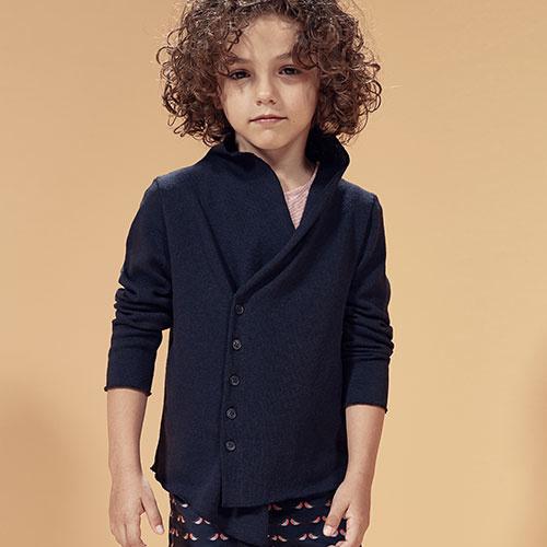 i leoncini Knitted Blazer blue (Vest)-2
