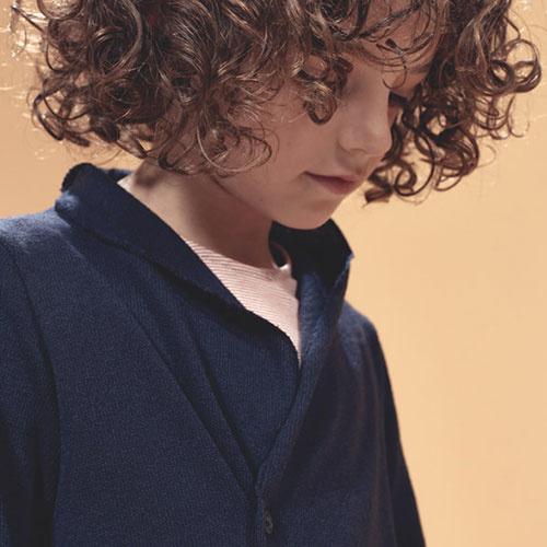 i leoncini Knitted Blazer blue (Vest)-3