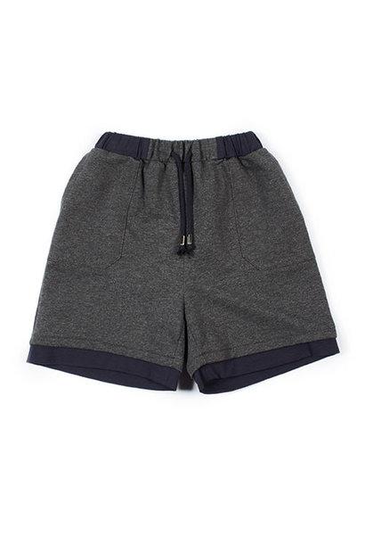 i leoncini Sweatshorts with Jersey Antraciet (Shorts)