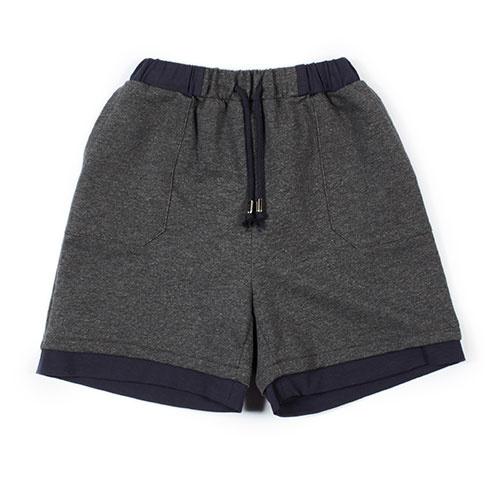 i leoncini Sweatshorts with Jersey Antraciet (Shorts)-1
