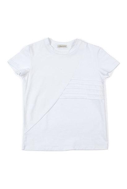 i leoncini t-shirt with Pleated Motive white (Shirt)