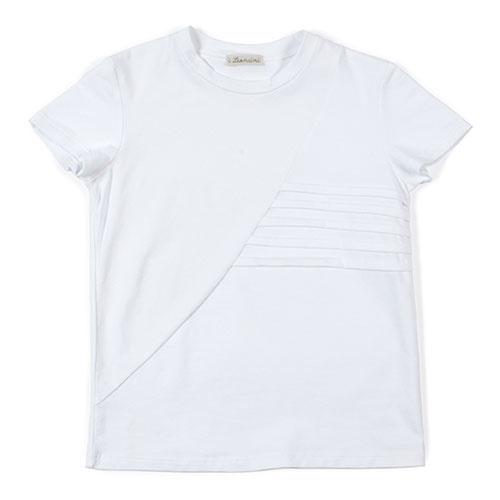 i leoncini t-shirt with Pleated Motive white (Shirt)-1
