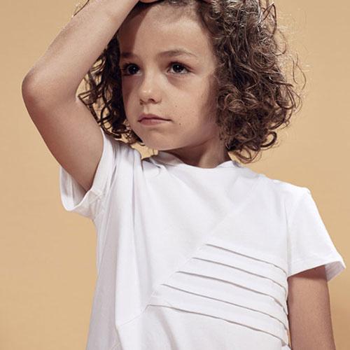 i leoncini t-shirt with Pleated Motive white (Shirt)-3