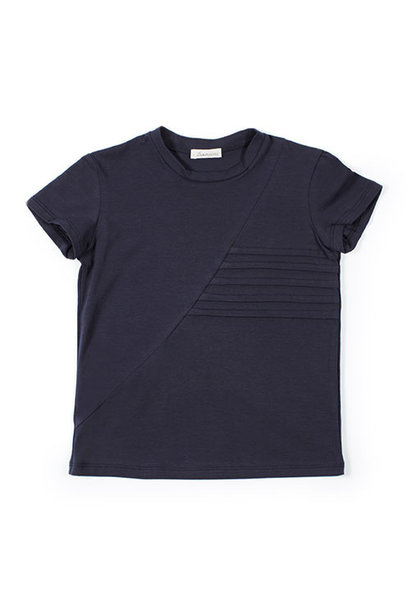 i leoncini t-shirt with Pleated Motive blue (Shirt)