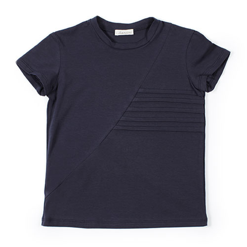 i leoncini t-shirt with Pleated Motive blue (Shirt)-1