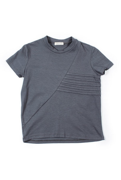 i leoncini t-shirt with Pleated Motive grey (Shirt)
