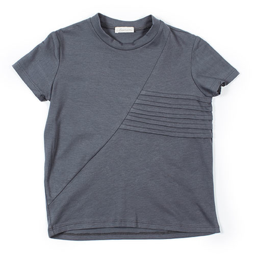 i leoncini t-shirt with Pleated Motive grey (Shirt)-1