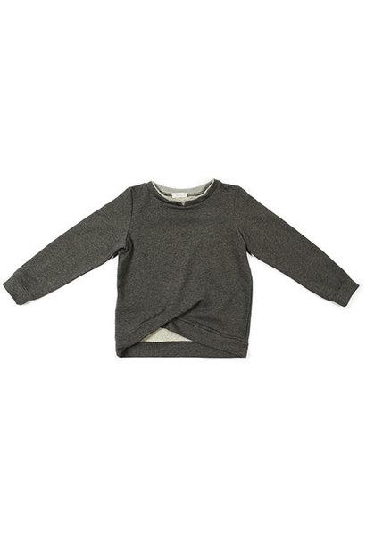 i leoncini Sweatshirt with Double Fold antraciet (Trui)