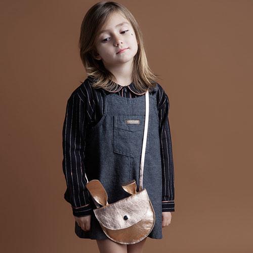 Tocoto Vintage Striped Lurex Blouse with Peter Pan Neck & Front Pocket Black (Blouse)-7