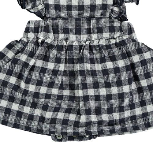 Tocoto Vintage Vichy Squares Sleeveless Body Dress Navy (Jurk)-3
