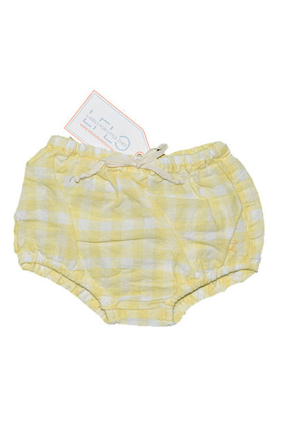 Tocoto Vintage Vichy Squares Culotte Bloomer Yellow (Bloomer)