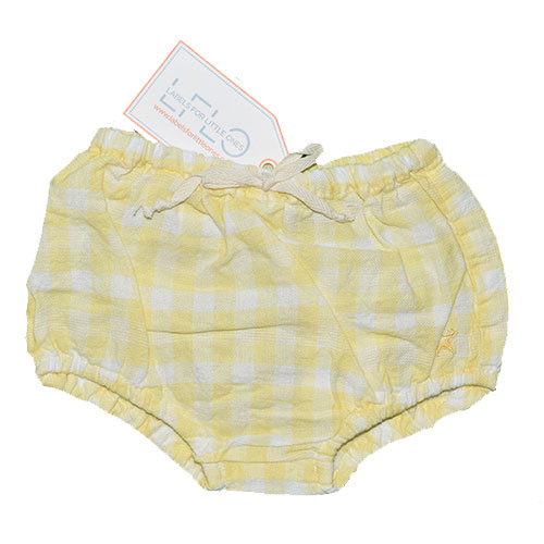 Tocoto Vintage Vichy Squares Culotte Bloomer Yellow (Bloomer)-1