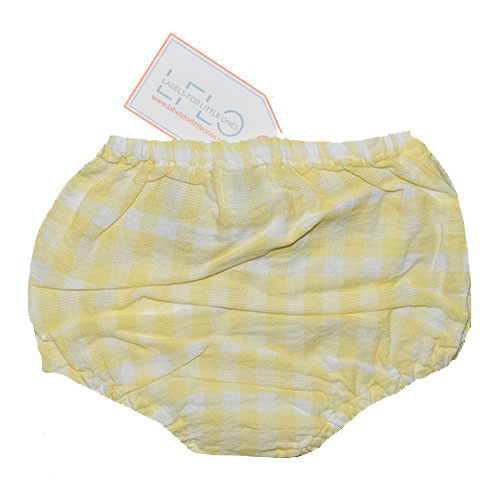 Tocoto Vintage Vichy Squares Culotte Bloomer Yellow (Bloomer)-2