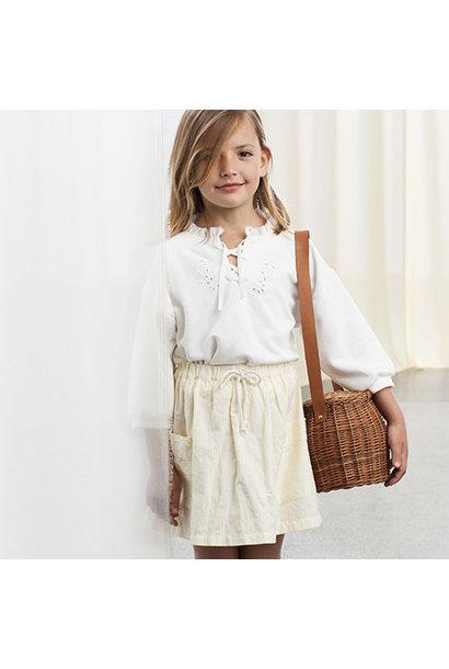 Tocoto Vintage Two Pockets Striped Mini Skirt (Rok)