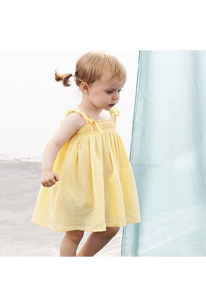 Tocoto Vintage Bambula Dress Yellow (Jurk)