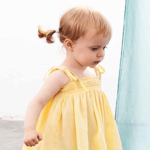 Tocoto Vintage Bambula Dress Yellow (Jurk)-2