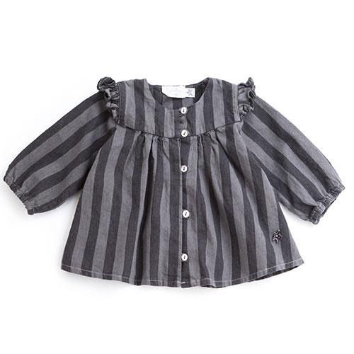 Tocoto Vintage Striped Denim Baby Shirt (Blouse)-1