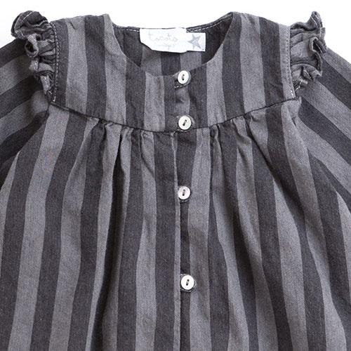Tocoto Vintage Striped Denim Baby Shirt (Blouse)-3