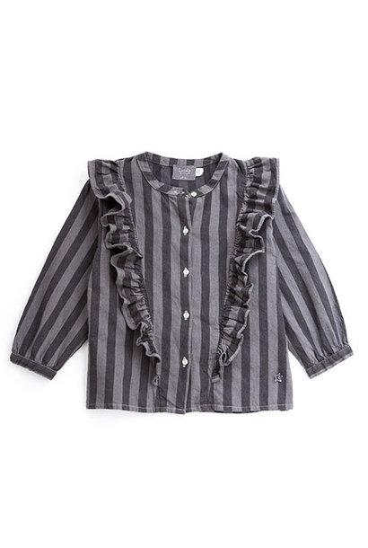 Tocoto Vintage Striped Denim Shirt (Blouse)