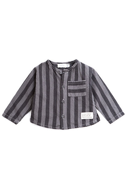 Tocoto Vintage Striped Denim Baby Shirt (Blouse)