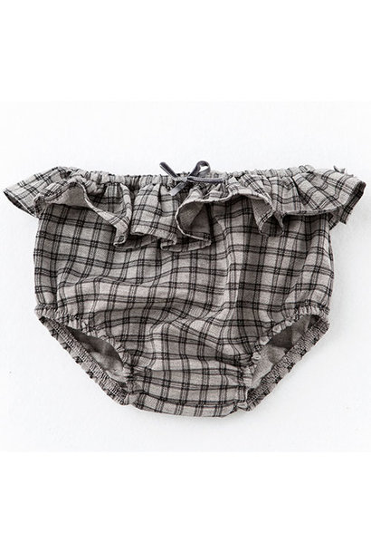 Tocoto Vintage Checkered Culotte with Ruffle (Bloomer)
