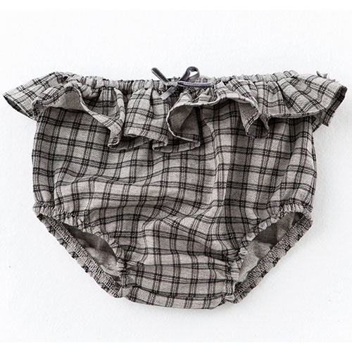 Tocoto Vintage Checkered Culotte with Ruffle (Bloomer)-1