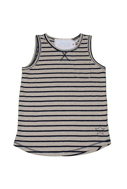 Tocoto Vintage Knitted Striped Tee Blue (Shirt)