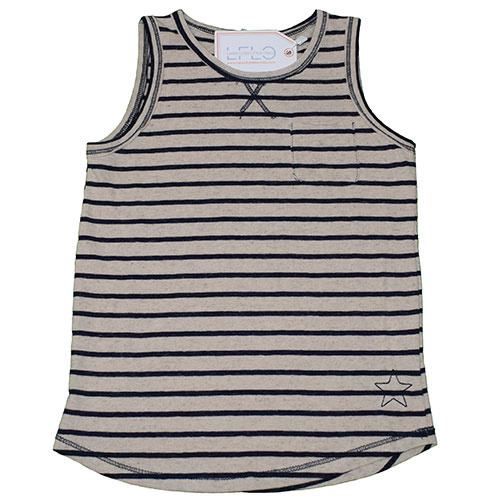 Tocoto Vintage Knitted Striped Tee Blue (Shirt)-1