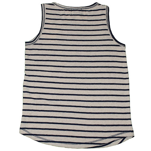Tocoto Vintage Knitted Striped Tee Blue (Shirt)-2