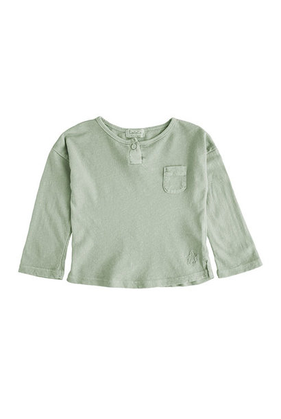Tocoto Vintage Longsleeve with Pocket Green Shirt)