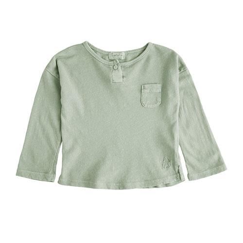 Tocoto Vintage Longsleeve with Pocket Green Shirt)-1