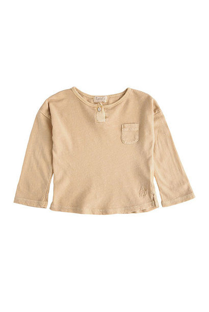 Tocoto Vintage Longsleeve with Pocket Mustard (Shirt)