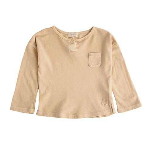 Tocoto Vintage Longsleeve with Pocket Mustard (Shirt)-1