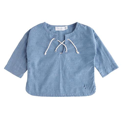 Tocoto Vintage Chambray Cord Longsleeve Blue (Shirt)-1