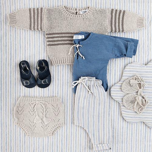 Tocoto Vintage Chambray Cord Longsleeve Blue (Shirt)-2