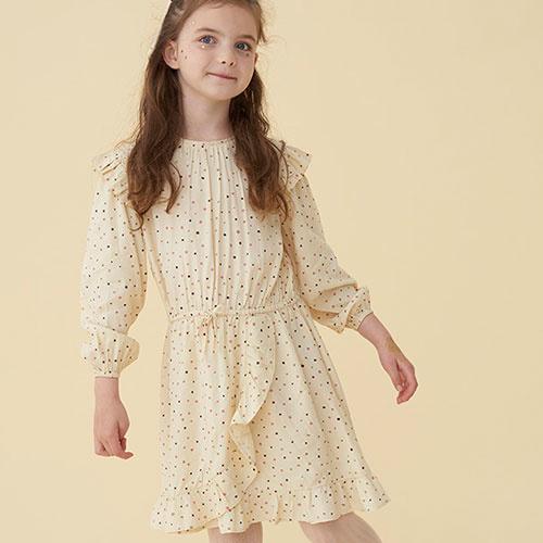 Soft Gallery Ea Dress Tapioca AOP Trio Dotties B (Jurk)-9