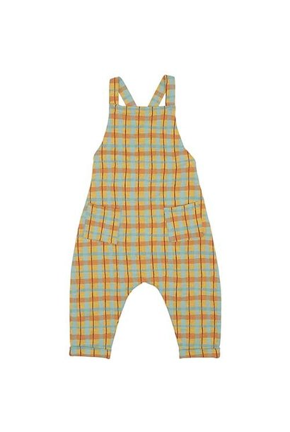 Soft Gallery Fanette Dungarees Narcissus AOP Check (Overall)