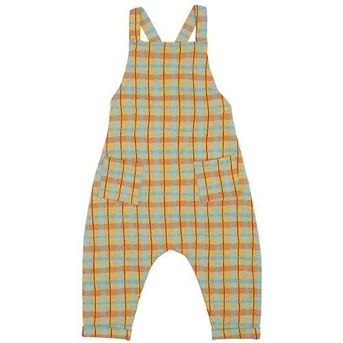 Soft Gallery Fanette Dungarees Narcissus AOP Check (Overall)-1