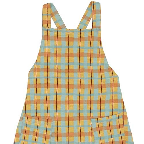 Soft Gallery Fanette Dungarees Narcissus AOP Check (Overall)-3