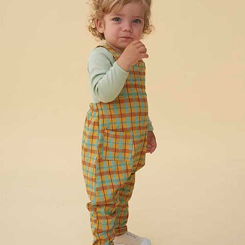 Soft Gallery Fanette Dungarees Narcissus AOP Check (Overall)-2
